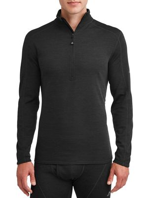 Ozark Trail Men's Wool Blend Half Zip Baselayer Pullover