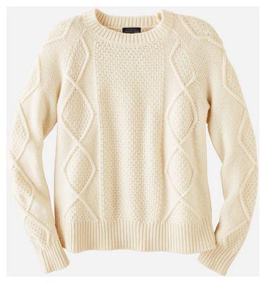 Pendleton Women's Diamond Cable Crew Sweater