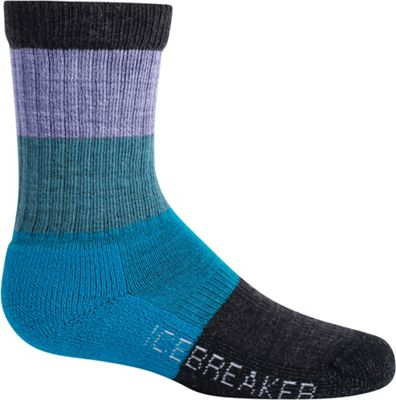 Icebreaker Kids' Hike Light Cushion Crew Macro Stripe Sock
