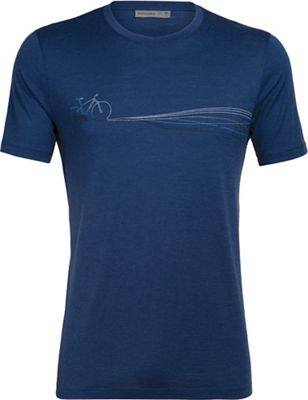 Icebreaker Men's Tech Lite SS Crewe - Cadence Paths