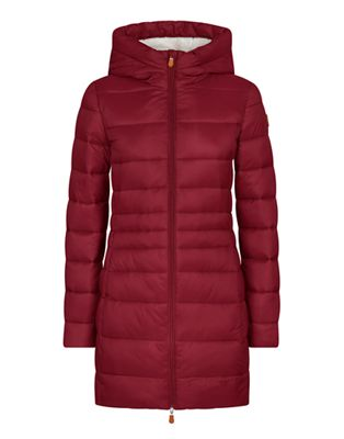Save The Duck Women's Hooded Sherpa Long Coat