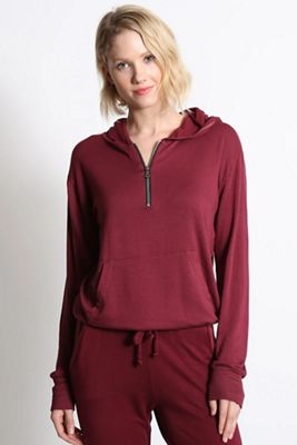 good hYOUman Women's Yunis Half Zip Hoodie Pullover