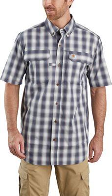 Carhartt Men's Force Relaxed-Fit Lightweight SS Button-Front Plaid Shirt