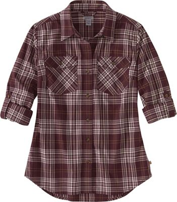 Carhartt Women's Rugged Flex Slightly Fitted Lightweight LS Button-Front Plaid Shirt