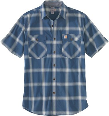 Carhartt Men's Rugged Flex Relaxed-Fit Lightweight SS Button-Front Plaid Shirt