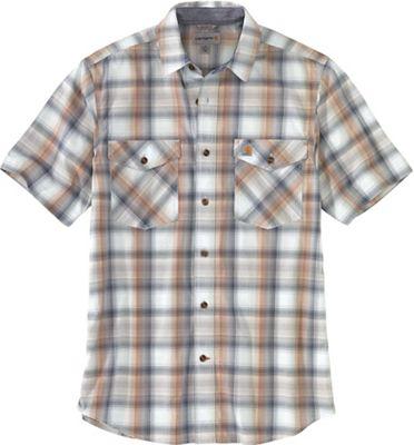 Carhartt Men's Rugged Flex Relaxed-Fit Lightweight SS Button-Front Plaid Shirt