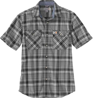 Carhartt Men's Rugged Flex Relaxed-Fit Lightweight SS Snap-Front Plaid Shirt
