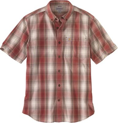 Carhartt Men's Relaxed-Fit Lightweight SS Button-Front Plaid Shirt