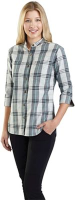 Carhartt Women's Relaxed Fit Midweight Three-Quarter Sleeve Button-Front Plaid Shirt
