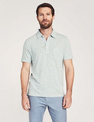 Faherty Men's Heather SS Polo