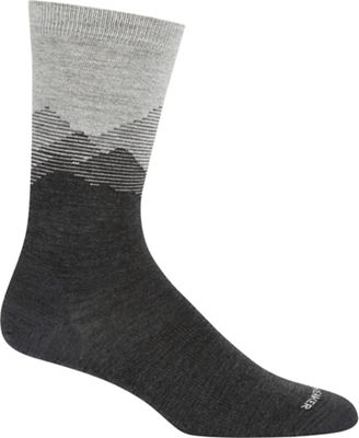 Icebreaker Men's Lifestyle Fine Gauge Crew Sock - Mountain Sky