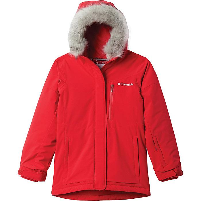 Columbia Girls Big Ava Alpine Jacket Medium Red Lily