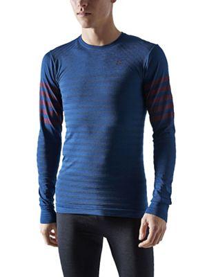 Craft Sportswear Men's Fuseknit Comfort Blocked Round Neck LS