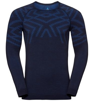 Odlo Men's Natural + Kinship SUW LS Crew Neck Top
