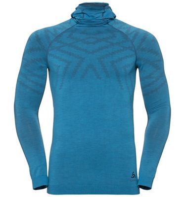 Odlo Men's Natural + Kinship SUW LS Top w/ Facemask