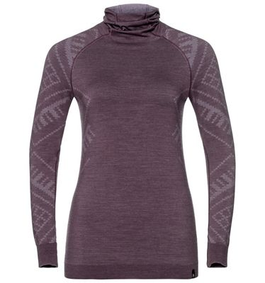 Odlo Women's Natural + Kinship SUW LS Top w/ Facemask