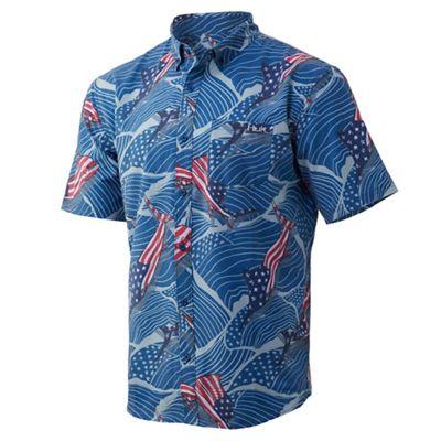 Huk Men's Kona Fins 'N Stripes Shirt