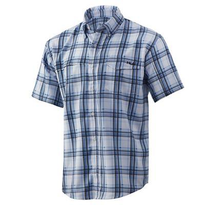 Huk Men's Tide Point Fish Plaid SS Shirt