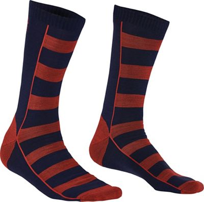 Mons Royale Men's All Rounder Stripes Crew Sock