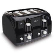Sunbeam® 4-Slice Wide-Slot Toaster, Black image number 1