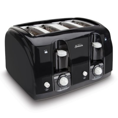 Sunbeam® 4-Slice Wide-Slot Toaster, Black