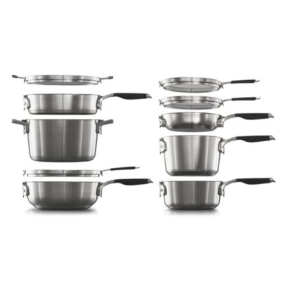 Select by Calphalon™ Space-Saving 10-Piece Stainless Steel Cookware Set