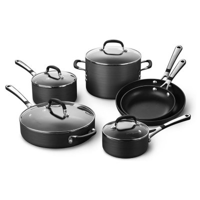Simply Calphalon Hard-Anodized Nonstick 10-Piece Cookware Set