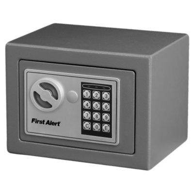 Security Box, Gray, 0.23 Cubic Feet
