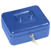 Cash Box, Blue, .1 Cubic Feet image number 0