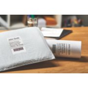 shipping labels on two packages image number 3