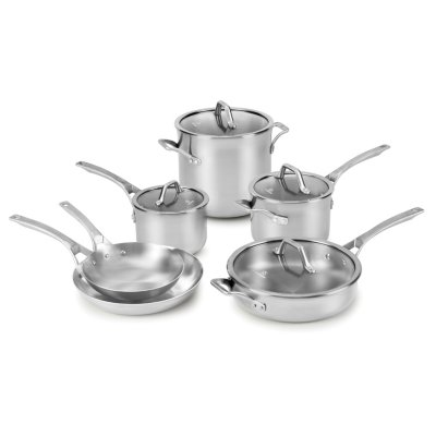 Calphalon Signature™ Stainless Steel 10-Piece Cookware Set