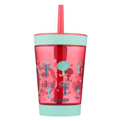 Kids Spill-Proof Tumbler with Straw, 14oz