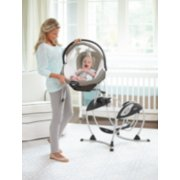 soothing system glider with removable bassinet image number 4