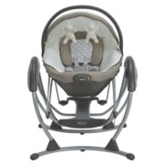 soothing system glider with removable bassinet image number 2