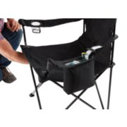 detailed view of cooler quad chair in black in use image number 1