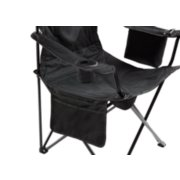 side pocket and cup holder of coleman cooler quad chair in black image number 3