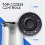 coleman 360 sound and light lantern with top access controls image number 5