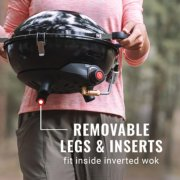 camping stove removable legs and inserts image number 3
