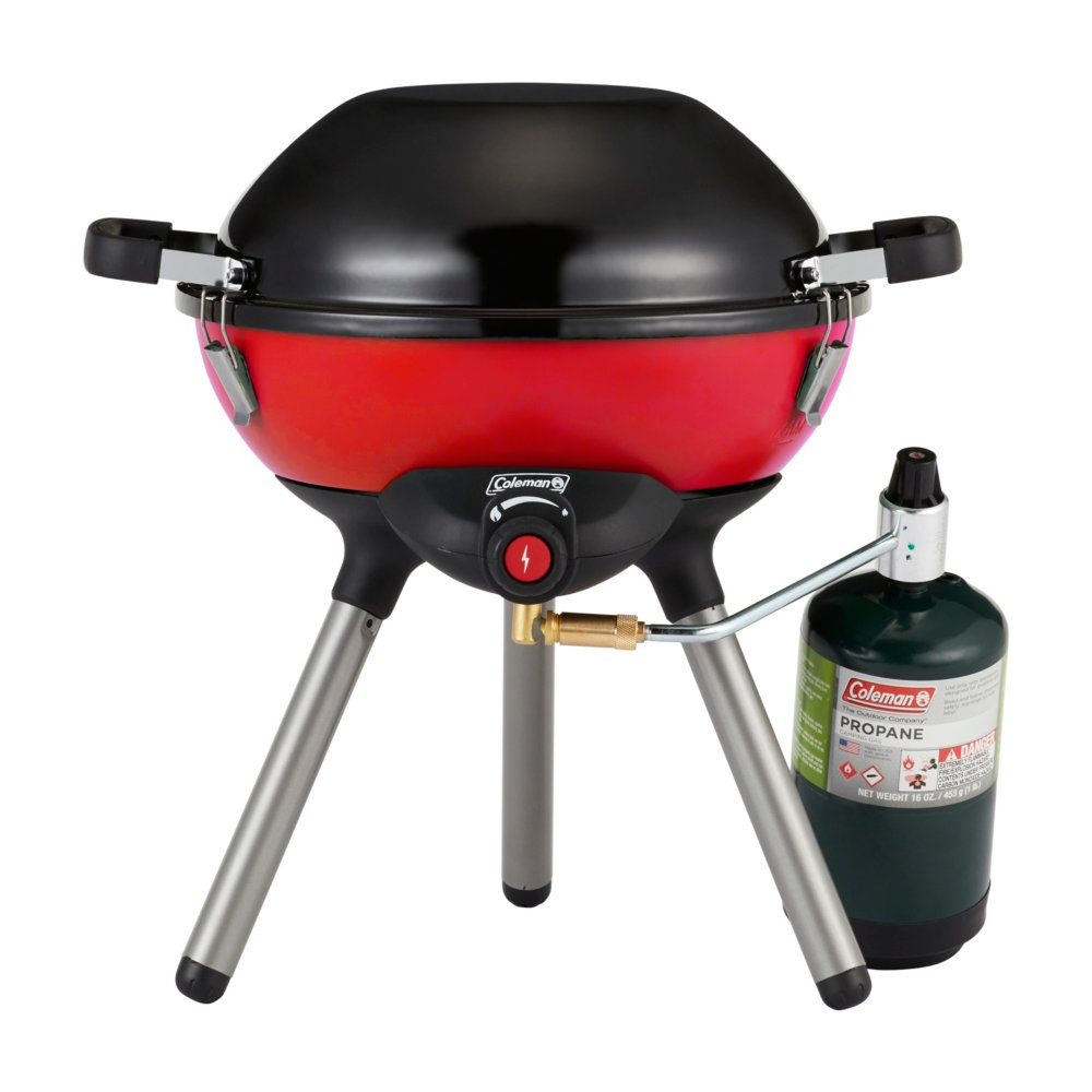 4-in-1 Portable Propane Gas Cooking System, Red