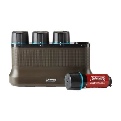 OneSource Rechargeable Lithium-Ion Battery (Pack of 4) & 4-Port Quick-Charging Station