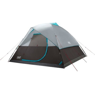 OneSource Rechargeable 6-Person Camping Dome Tent with Airflow System & LED Lighting