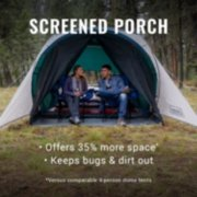 6-Person Cabin Tent with Screened Porch, Evergreen image number 1