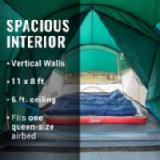 6-Person Cabin Tent with Screened Porch, Evergreen image number 3