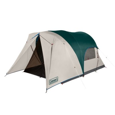 4-Person Cabin Tent with Enclosed Weatherproof Screened Porch, Evergreen