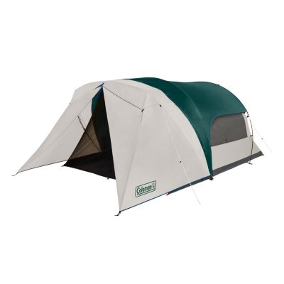 6-Person Cabin Tent with Enclosed Weatherproof Screened Porch, Evergreen