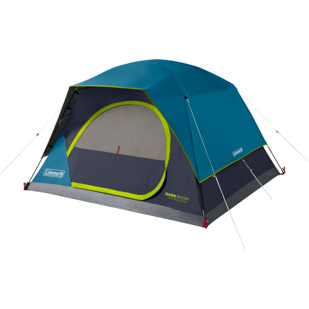 4-Person Dark Room™ Skydome™ Camping Tent, Blue