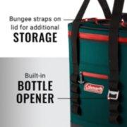 soft cooler backpack's straps and bottle opener image number 4