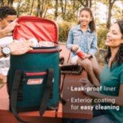 soft cooler backpack's leak-proof liner image number 5