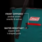 soft cooler tote with zippered pockets image number 2