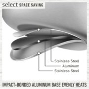 Select by Calphalon™ Space-Saving 10-Piece Stainless Steel Cookware Set image number 2